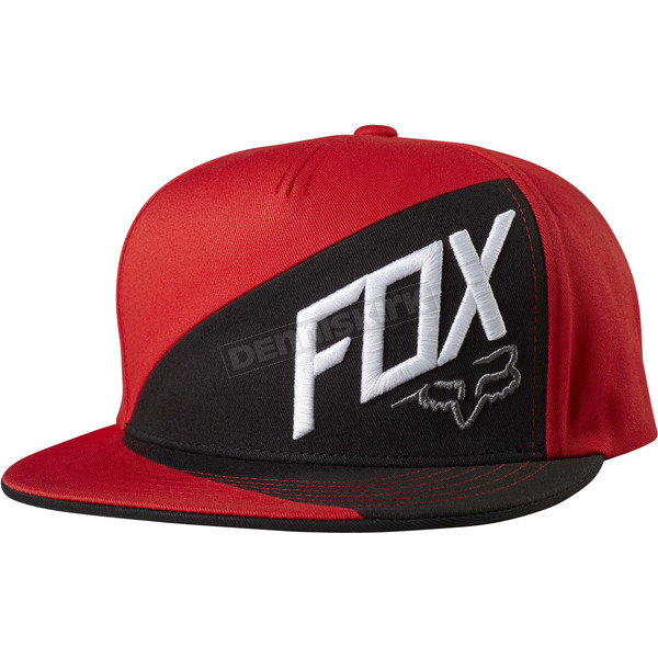 Fox Flame Red Overlapped Snapback Hat - 18754-122-OS