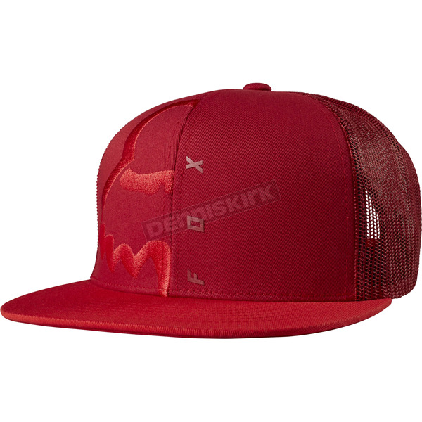 Fox Cranberry Eyecon Box Snapback Hat - 18755-527-OS