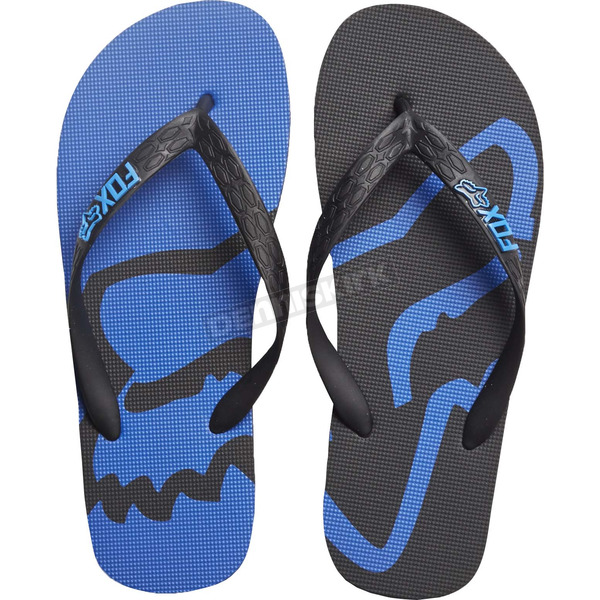 Fox Black/Blue Beached Flip Flops - 20171-001-10