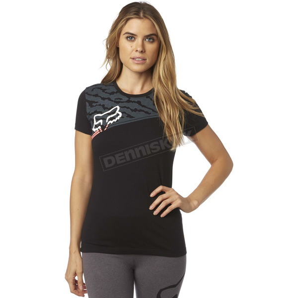 Fox Women's Black Activated Crew T-Shirt - 18548-001-XS