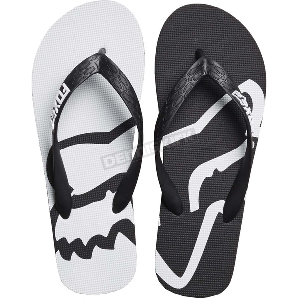 Fox Women's Black/White Beached Flip Flops - 20174-018-10