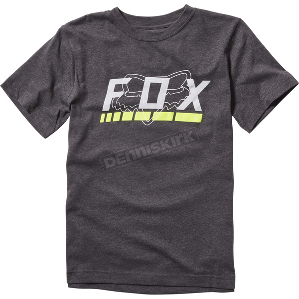 Fox Youth Charcoal Heather Townes T-Shirt - 19895-123-YXL