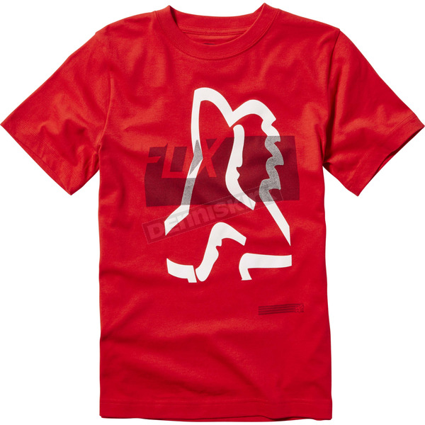 Fox Youth Flame Red Kamakana T-Shirt - 20036-122-YL