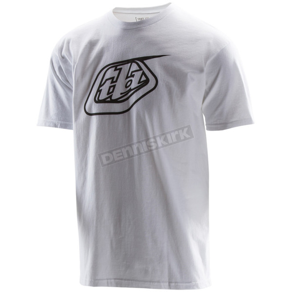 Troy Lee Designs White Logo T-Shirt - 701200123