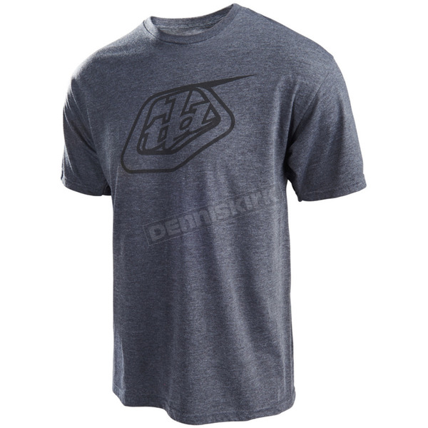 Troy Lee Designs Heather Charcoal Logo T-Shirt - 701200926