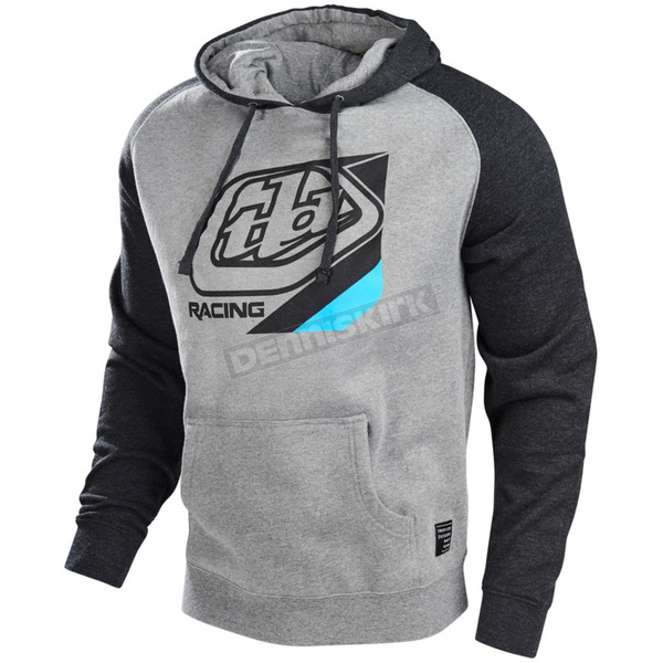 Troy Lee Designs Gunmetal/Charcoal Heather Precision Pullover Hoody - 731352996