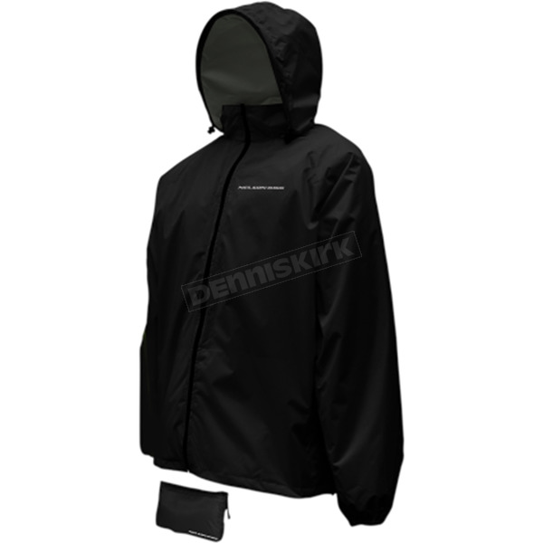 Nelson-Rigg Black Compact Pack Jacket - CJ-BLK-MD