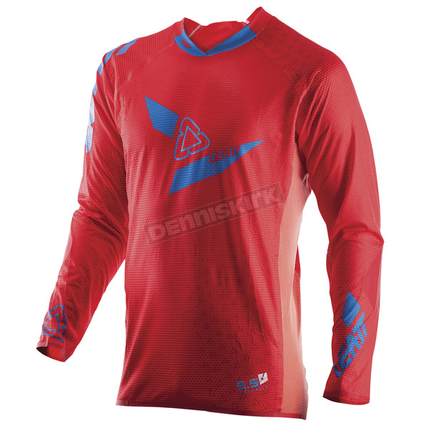 Leatt Red/Blue GPX 5.5 UltraWeld Jersey - 5017910422