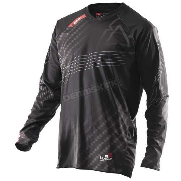 Leatt Black/Gray GPX 4.5 Windblock Jersey - 5017910442