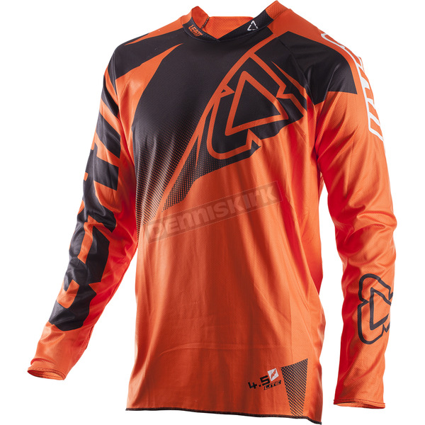Leatt Black/Orange GPX 4.5 Lite Jersey - 5017910473