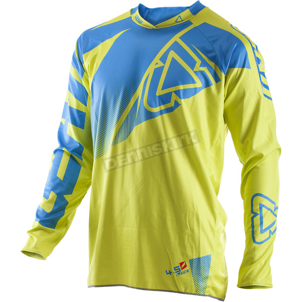 Leatt Lime/Blue GPX 4.5 Lite Jersey - 5017910504
