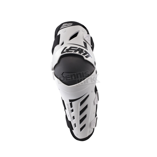 Leatt White/Black Dual Axis Knee and Shin Guards - 5017010175