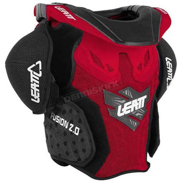 Leatt Youth Red/Black Fusion 2.0 Neck Brace/Torso Protector - 1014010010