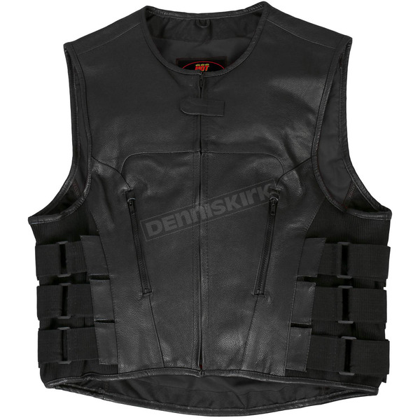 Hot Leathers Adjustable Leather Vest w/Side Straps - VSM1028XXXL