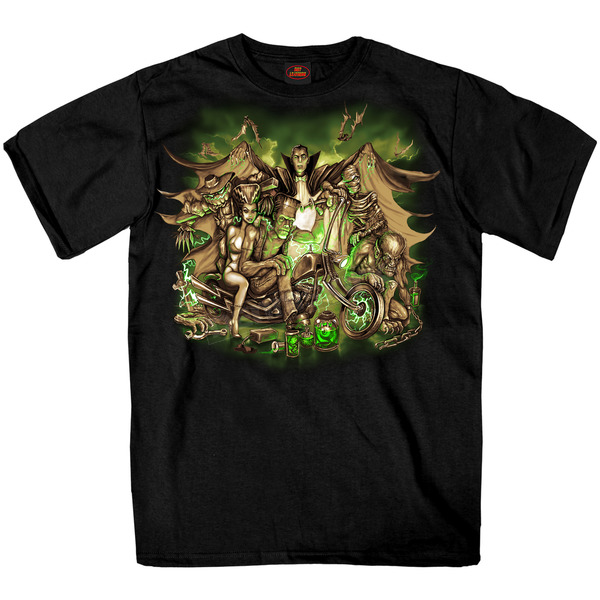 Hot Leathers Black Monster Mash T-Shirt - GMS1362XXL