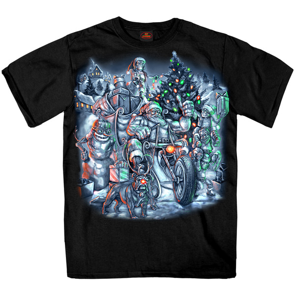 Hot Leathers Black Christmas Crew T-Shirt - GMS1363L