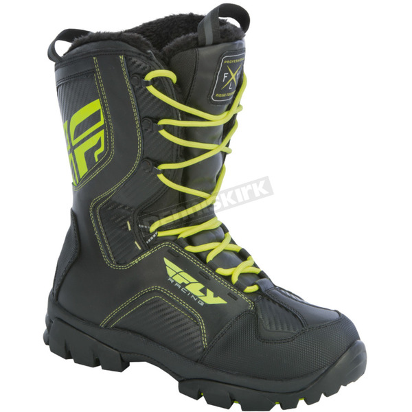 Fly Racing Black/Hi-Vis Marker Boots - 361-97814