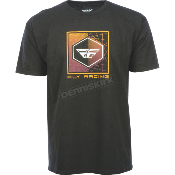 Fly Racing Black Spoke T-Shirt - 352-1000S