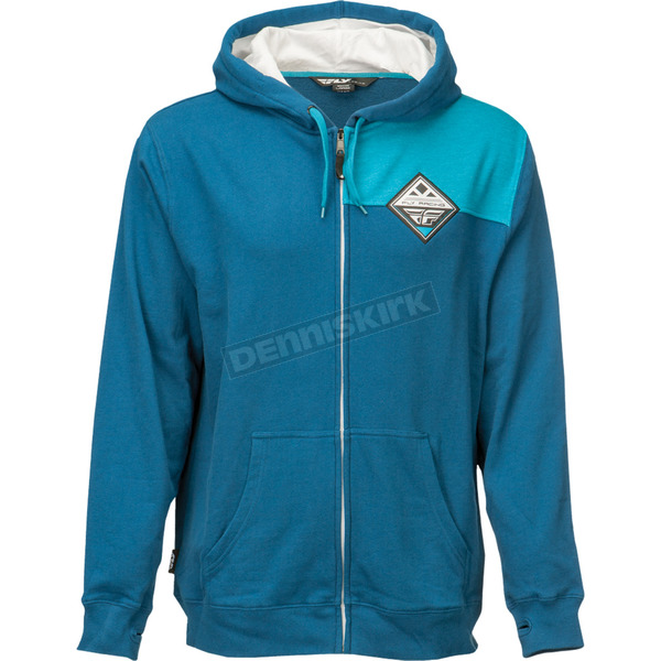 Fly Racing Blue Patch Zip Up Hoody - 354-6281M