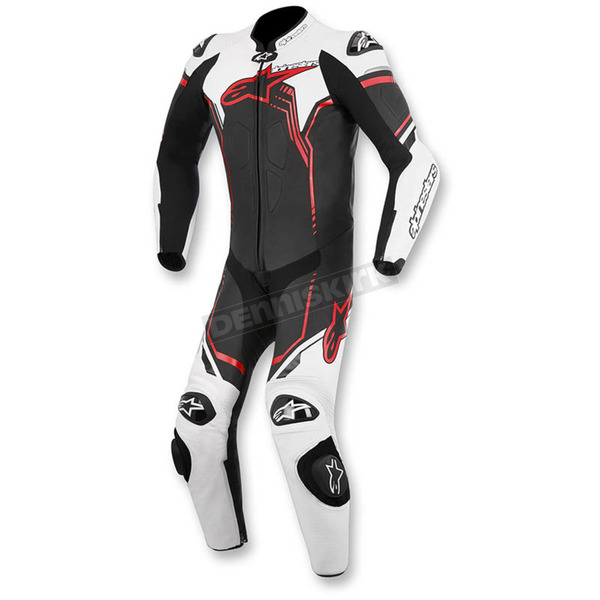 Alpinestars Black/White/Red GP Plus 1-Piece Leather Race Suit - 3150516-123-54