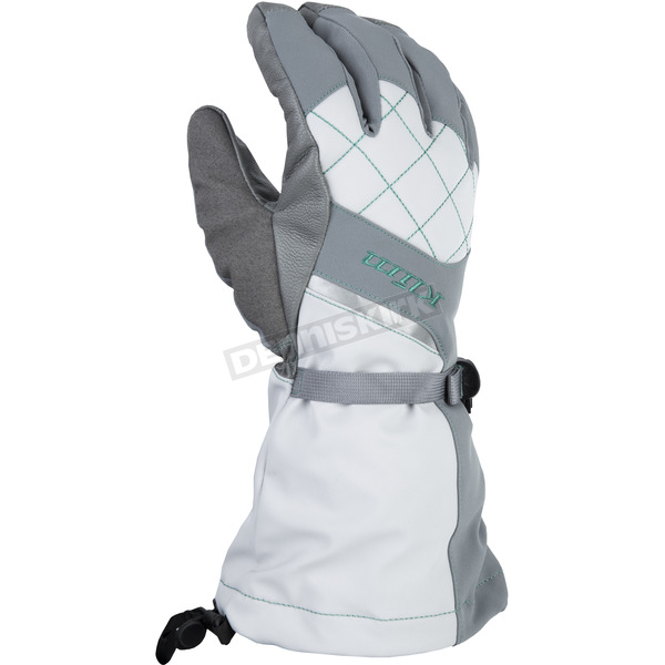 Klim Women's Allure Gray/Mint Gloves - 4087-002-150-602