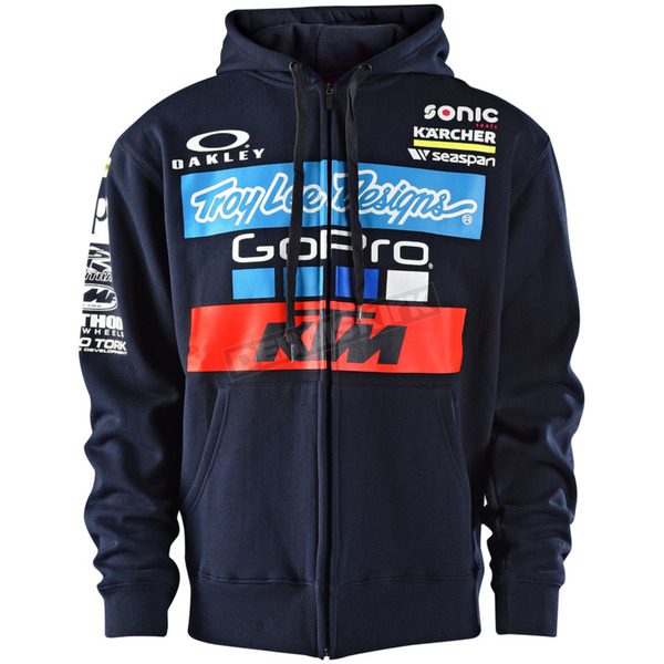 Troy Lee Designs Navy 2017 Team KTM Zip-Up Hoody - 730505375