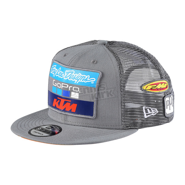 Troy Lee Designs Charcoal 2017 Team KTM Snapback Hat - 712505970