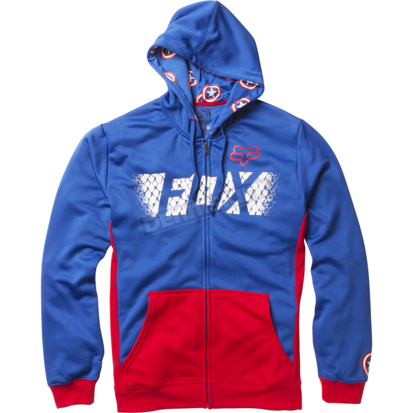 Fox Blue Marvel Captain America Zip Hoody - 20237-002-S