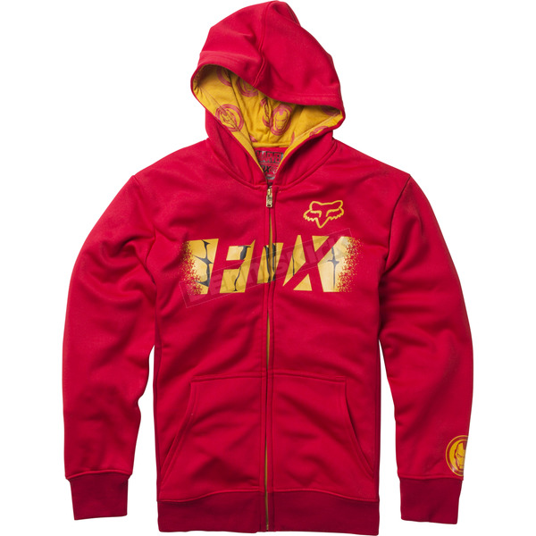 Fox Youth Red Marvel Iron Man Zip Hoody - 20245-003-YL