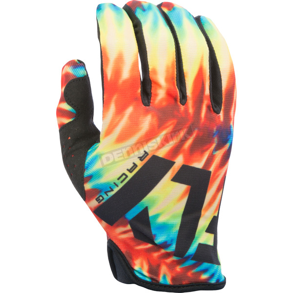 Fly Racing Tie-Dye/Black Limited Edition Lite Gloves - 370-01809