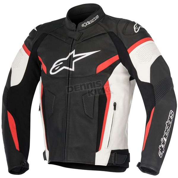 Alpinestars Black/White/Red GP Plus R v2 Leather Jacket - 3100517-123-58