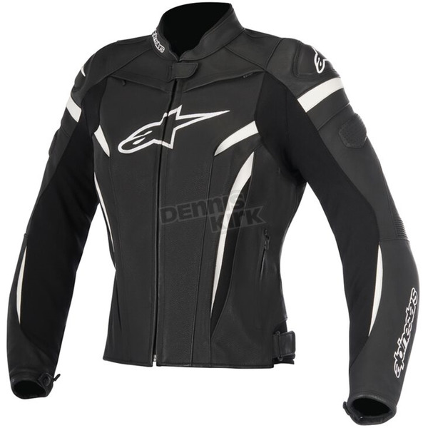 Alpinestars Womens Black/White Stella GP Plus R v2 Leather Jacket - 3110517-12-46