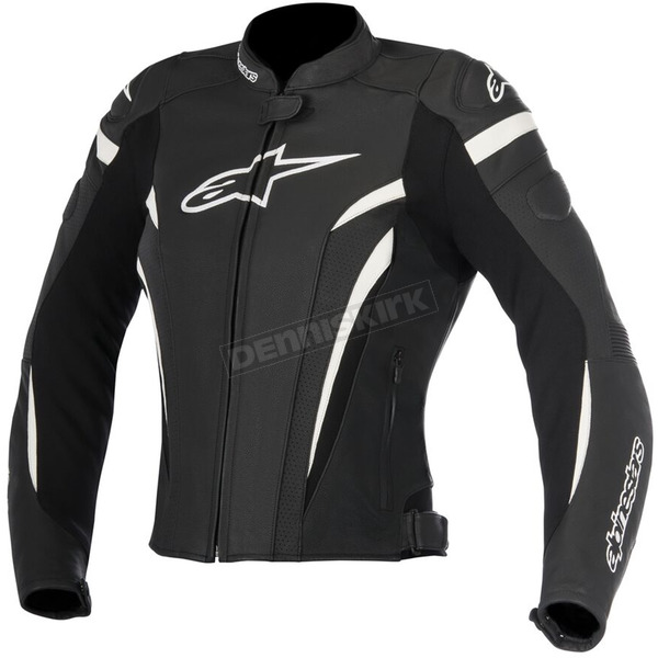 Alpinestars Womens Black/White Stella GP Plus R v2 Airflow Leather Jacket - 3110617-12-44