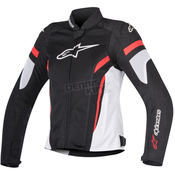 Alpinestars Womens Black/White/Red Stella T-GP Plus R v2 Air Jacket - 3310617-123-XS