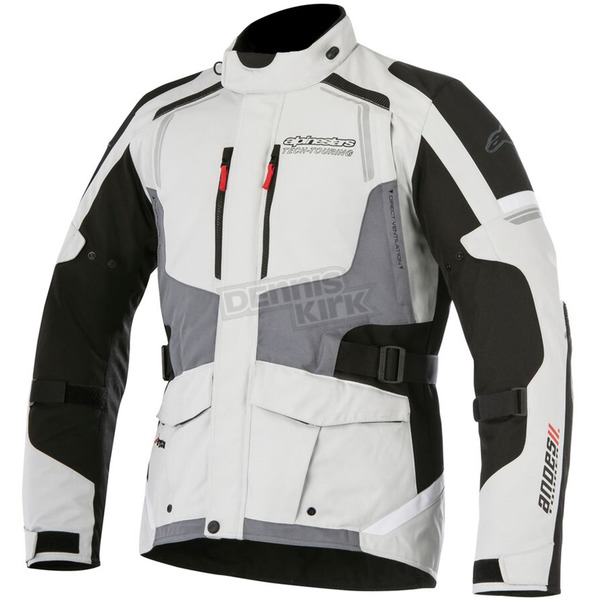 Alpinestars Light Gray/Black/Dark Gray Andes v2 Drystar Jacket - 3207517-9219-4X