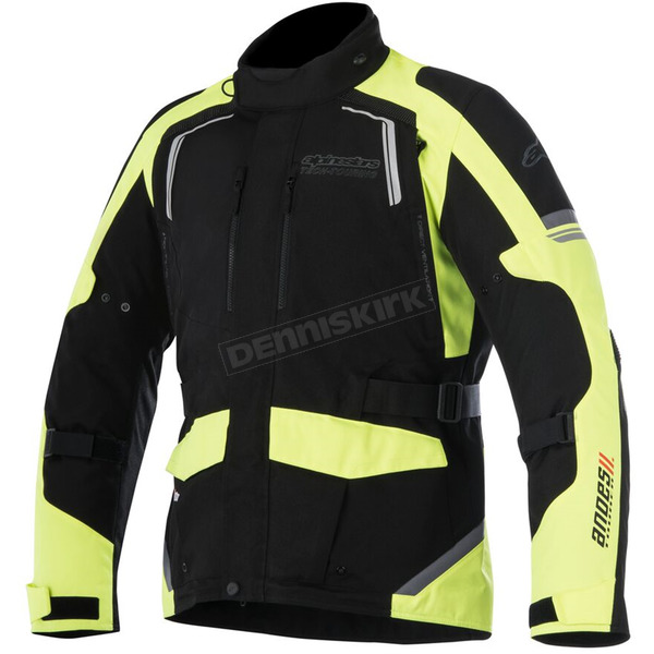 Alpinestars Black/Fluorescent Yellow Andes v2 Drystar Jacket - 3207517-155-4X
