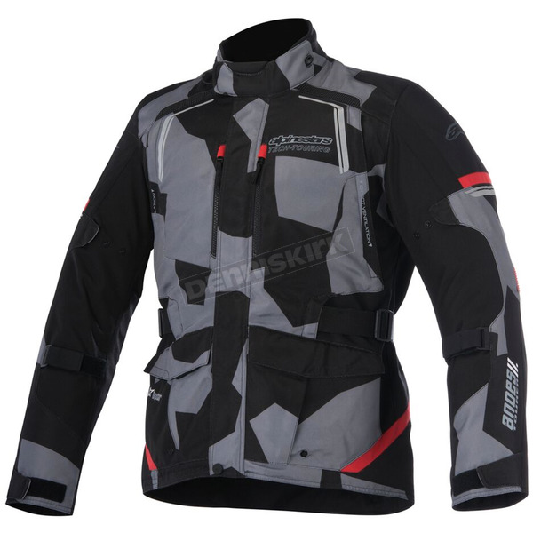 Alpinestars Black/Camo/Red Andes v2 Drystar Jacket - 3207517-993-2X