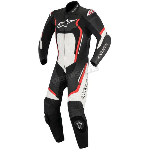 Alpinestars Black/Red/White Motegi v2 One-Piece Riding Suit - 3151017-132-46