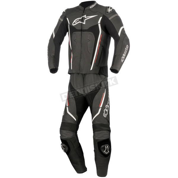 Alpinestars Black/White/Red Motegi v2 Two-Piece Riding Suit - 3161017-123-64