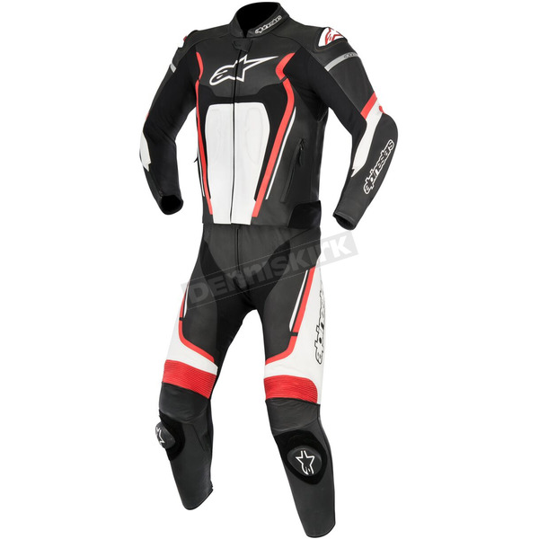 Alpinestars Black/Red/White Motegi v2 Two-Piece Riding Suit - 3161017-132-50