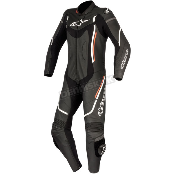 Alpinestars Women's Black/White Stella Motegi One-Piece Riding Suit - 3181017-12-44