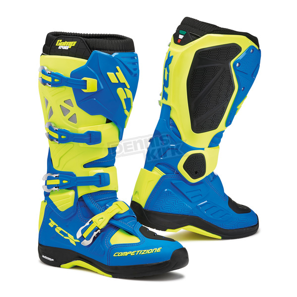 TCX Royal Blue/Yellow Fluorescent Comp EVO Michelin Boots - 9661-ROYF-46