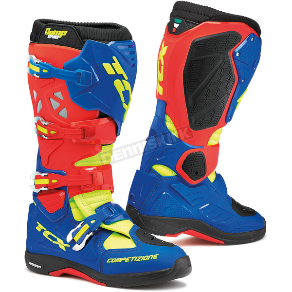 TCX Red/Bright Blue/Yellow Fluorescent Comp EVO Michelin Boots - 9661-RBBY-41
