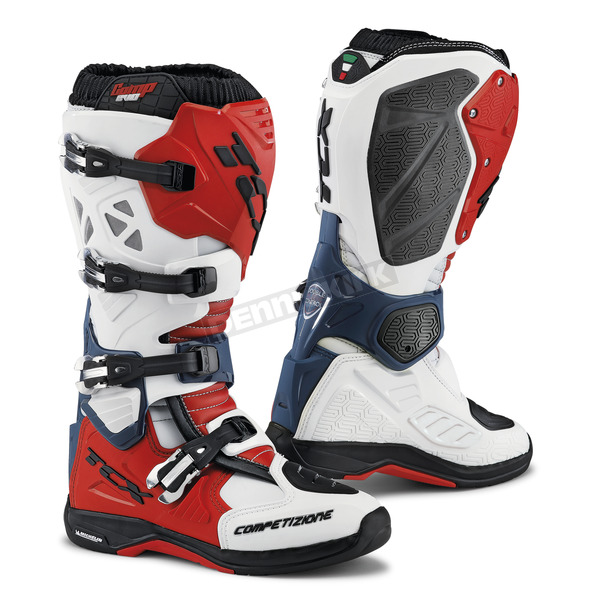 TCX White/Red/Blue Comp EVO Michelin Boots - 9661 BIRB 45