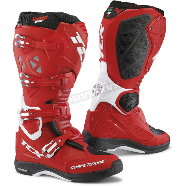 TCX Red/White Comp EVO Michelin Boots - 9661 ROBI 41