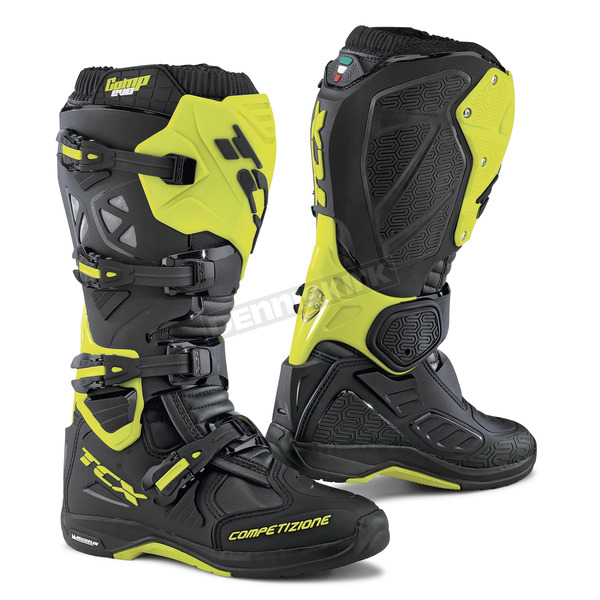 TCX Black Fluorescent Yellow Comp EVO Michelin Boots - 9661 YEFL 46