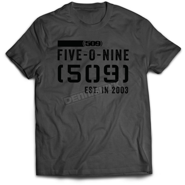 509 Charcoal Stamp 17 T-Shirt - 509-CLO-S7T-MD