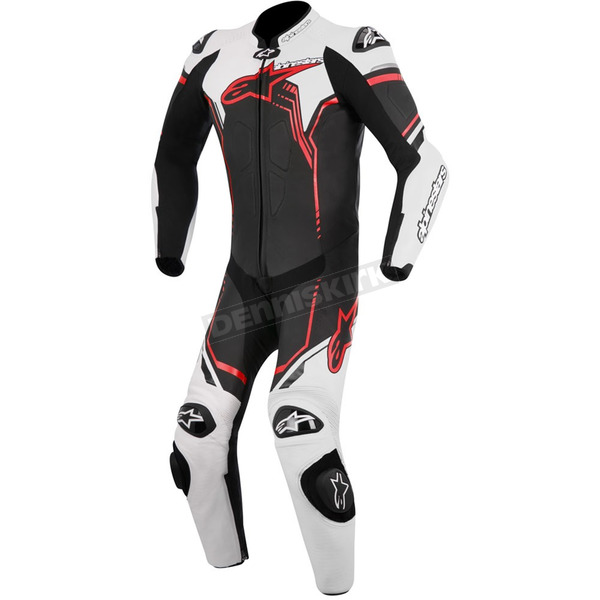 Alpinestars Black/White/Red GP Plus 1-Piece Leather Racing Suit  - 3150518-13-54