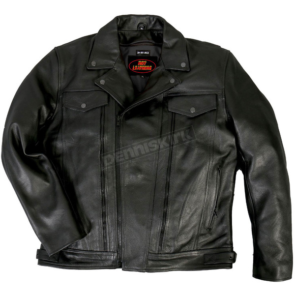 Hot Leathers Leather Jacket w/Zip Vents - JKM1018M