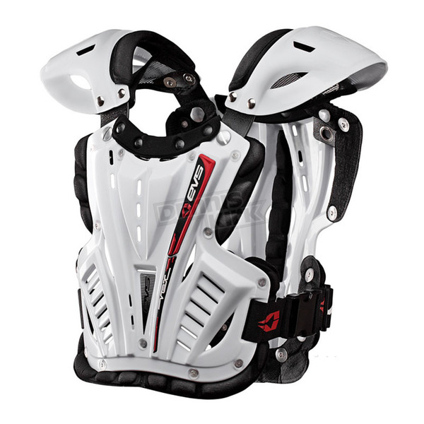 EVS Sports White Vex Chest Protector - VEX-W-L